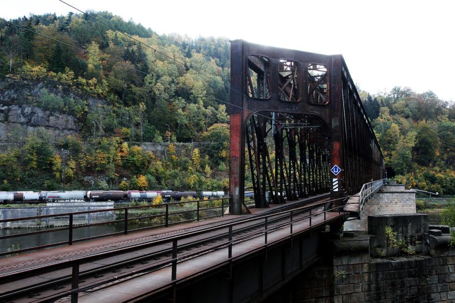 Železniční most Děčín východ_Děčín Prostřední Žleb